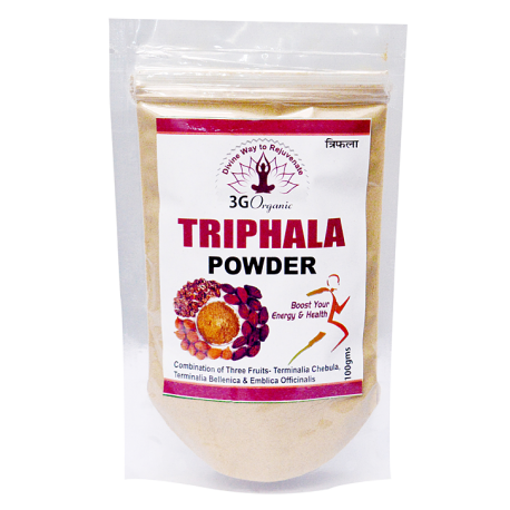 Triphala Powder from 3G Organic 100gms Premium Trifala Powder